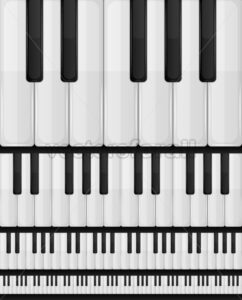 Piano Keyboard Seamless Background - Vectorsforall