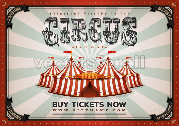 209c2eb221a2e8 Vintage Circus Poster Background