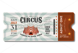 Vintage Circus Ticket - Vectorsforall