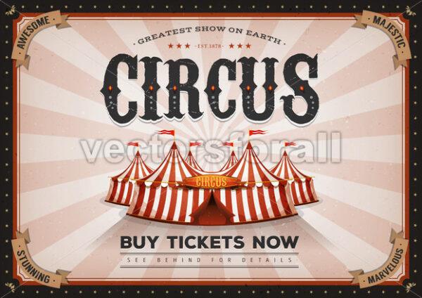 Vintage Horizontal Circus Poster - Vectorsforall