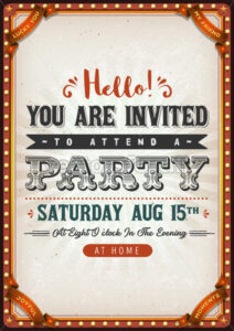 Vintage Party Invitation Card - Vectorsforall