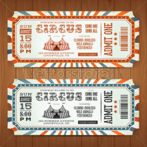 Vintage Retro Circus Tickets - Vectorsforall
