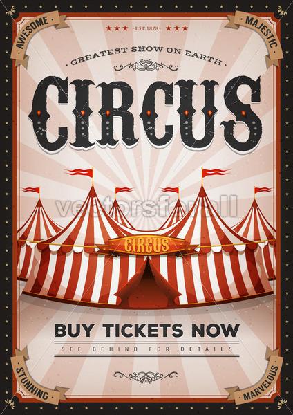 Vintage Western Circus Poster - Vectorsforall