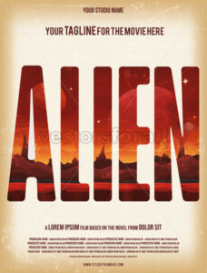 Alien Movie Poster Template - Vectorsforall