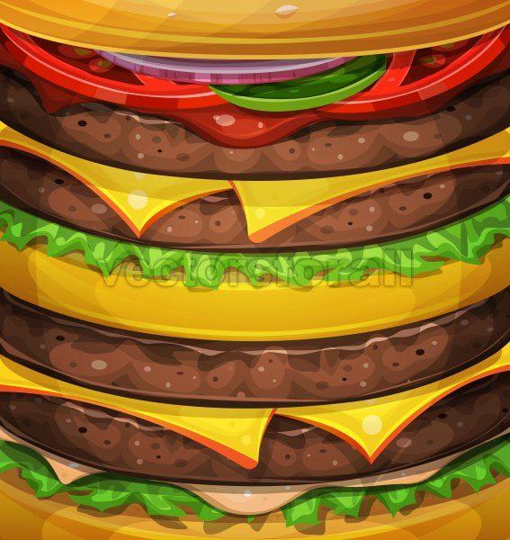 American Burger Background - Vectorsforall