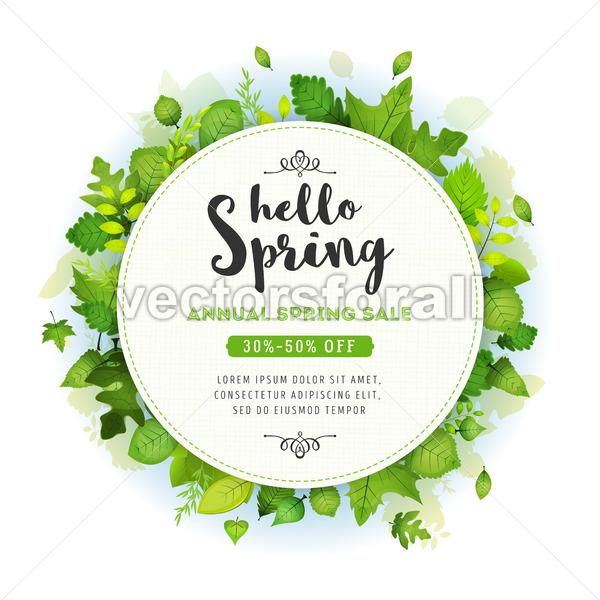 Annual Spring Sale Background - Vectorsforall
