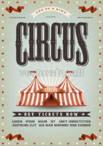 Circus Poster Design - Vectorsforall