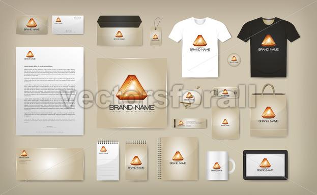 Corporate Visual Identity Mock Up - Vectorsforall