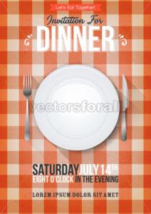 Dinner Invitation Background - Vectorsforall