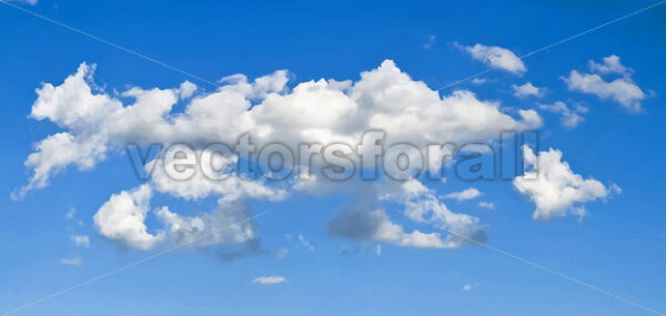 Elegant Vector Clouds On Blue Sky Background - Vectorsforall