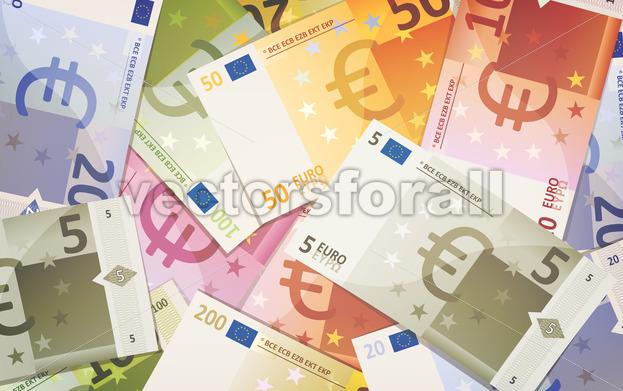 Euro Bills Background - Vectorsforall
