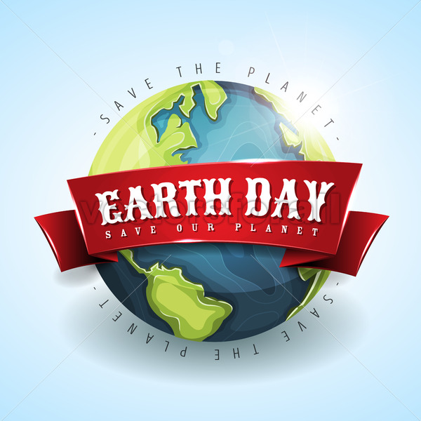 Happy Earth Day Banner April 22 - Vectorsforall