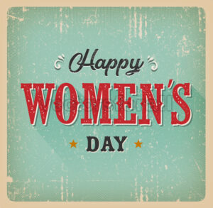 Happy Women's Day Card - Vectorsforall