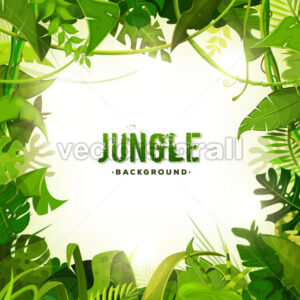 Jungle Tropical Decoration Background - Vectorsforall