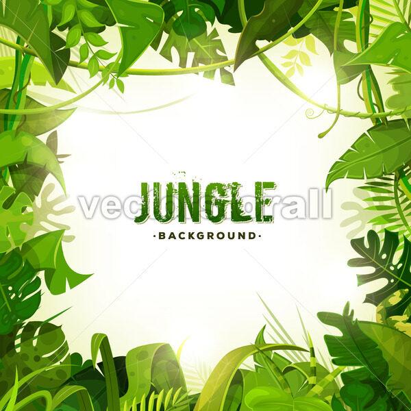 Jungle Tropical Decoration Background - Vectorsforall