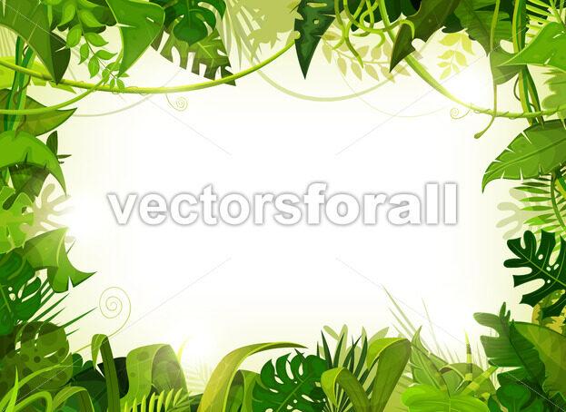 Jungle Tropical Landscape Background - Vectorsforall