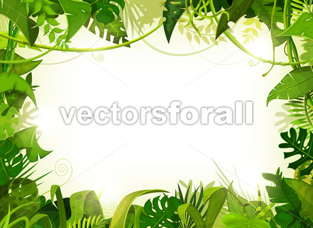 Jungle Tropical Landscape Background - Vectorsforall