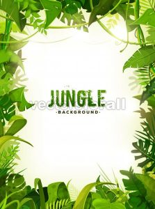 Jungle Tropical Leaves Background - Vectorsforall