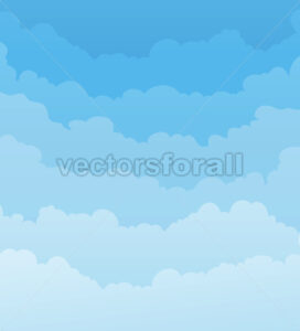 Sky Background With Clouds Layers - Vectorsforall