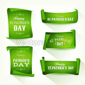 St. Patrick's Day Parchment Scroll Set - Vectorsforall
