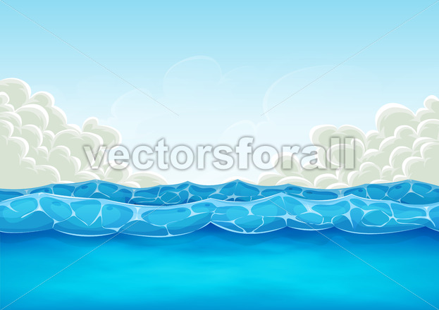 Summer Ocean Background For Ui Game - Vectorsforall