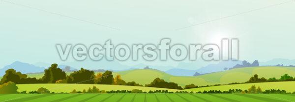 Summer Season Country Banner - Vectorsforall