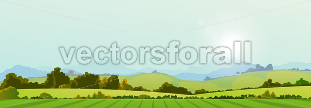 Summer Season Country Banner - Vectorsforall