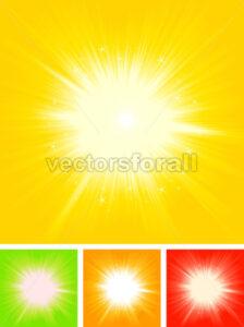 Summer Sun Starburst - Vectorsforall