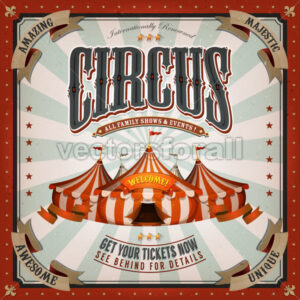 Vintage Circus Background - Vectorsforall
