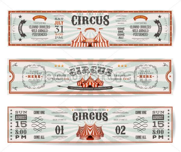 Vintage Circus Website Banners Templates - Vectorsforall