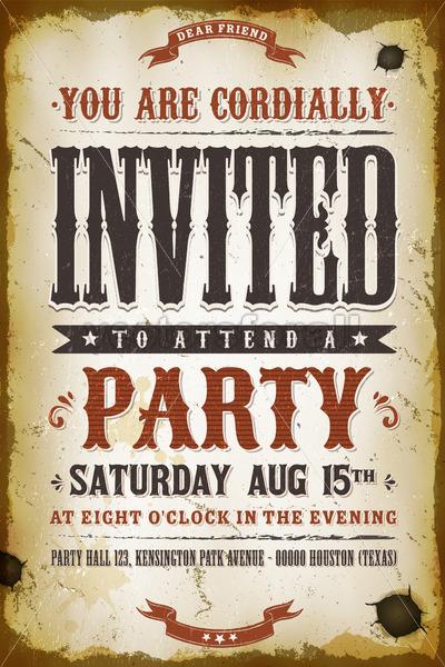 Vintage Party Invitation Background - Vectorsforall