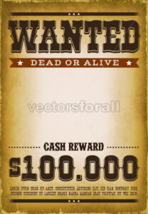 Wanted Western Poster Background - Vectorsforall