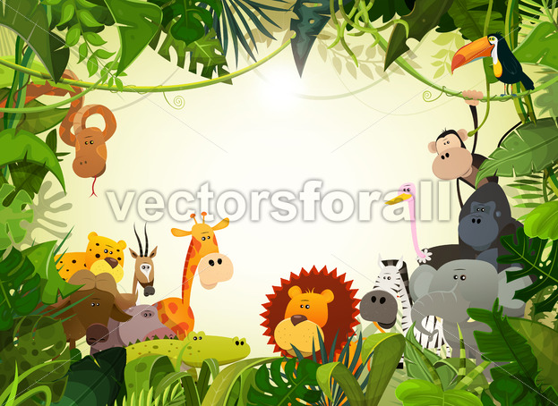 Wildlife Animals Landscape - Vectorsforall