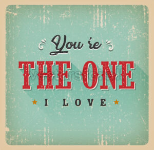 You're The One I Love Card - Vectorsforall