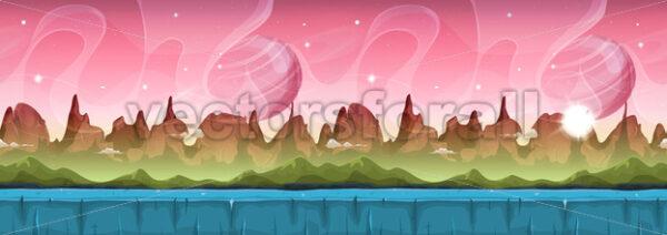 Fairy Sci-fi Alien Landscape For Ui Game - Vectorsforall