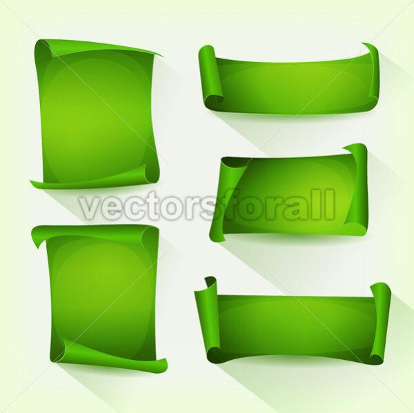 Green Parchment Scroll Set - Vectorsforall