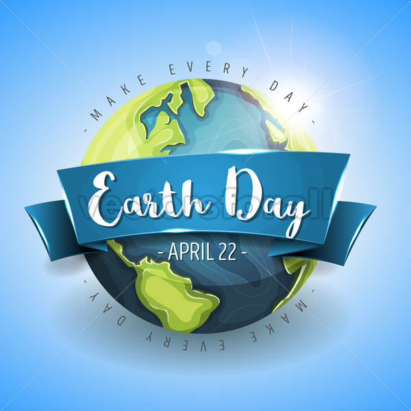 Happy Earth Day Background - Vectorsforall