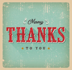 Many Thanks To You Retro Card - Vectorsforall