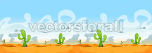 Seamless Western Desert Landscape For Ui Game - Vectorsforall