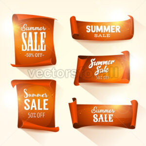 Summer Sales On Shining Parchment Scroll Set - Vectorsforall
