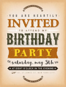 Vintage Invitation To A Party Card - Vectorsforall