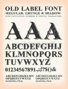 Vintage Old Label Western Font - Vectorsforall