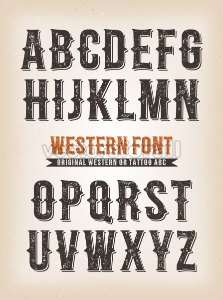 Vintage Western And Circus ABC Font - Vectorsforall