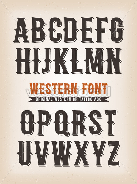 dafc38e19 Vintage Western And Tattoo ABC Font - Vectorsforall