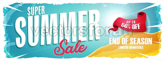 Summer Holiday Sale Wide Banner - Vectorsforall