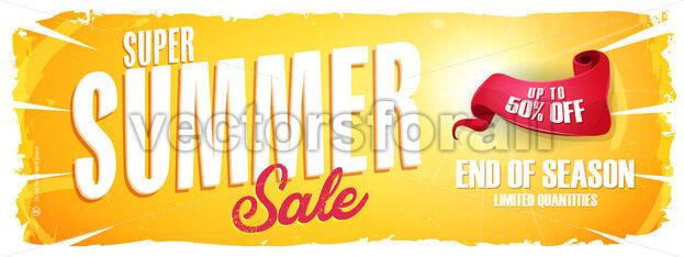 Summer Sale Extra Wide Banner - Vectorsforall