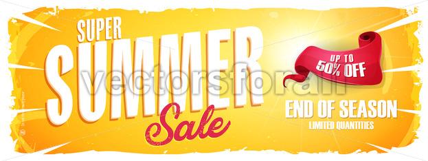 Summer Sale Extra Wide Banner - Vectorsforall