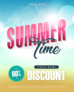 Summer Time Holiday Sale Banner - Vectorsforall