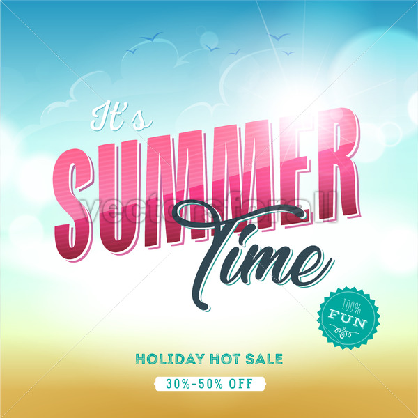 Summer Time Template Banner - Vectorsforall