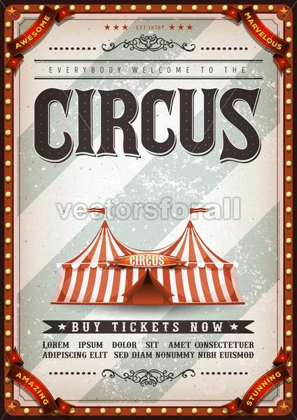 Vintage Design Circus Poster - Vectorsforall